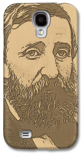 Walden Pond Galaxy S4 Cases - Henry David Thoreau Galaxy S4 Case by Dan Sproul