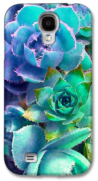 Gardening Photography Galaxy S4 Cases - Hens and Chicks series - Deck Blues Galaxy S4 Case by Moon Stumpp