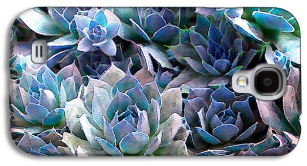 Gardening Photography Galaxy S4 Cases - Hens and Chicks series - Evening Light Galaxy S4 Case by Moon Stumpp