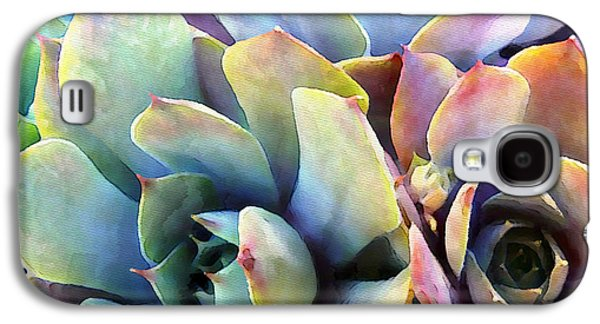 Gardening Photography Galaxy S4 Cases - Hens and Chicks series - Soft Tints Galaxy S4 Case by Moon Stumpp