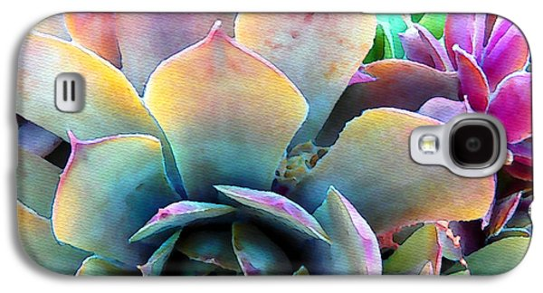Gardening Photography Galaxy S4 Cases - Hens and Chicks series - Unfolding Galaxy S4 Case by Moon Stumpp