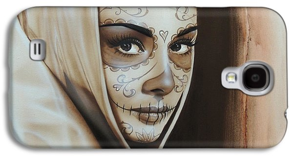 Gothic Paintings Galaxy S4 Cases - Hepburn De Los Muertos Galaxy S4 Case by Christian Chapman Art