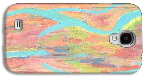 Abstract Digital Paintings Galaxy S4 Cases - Her Body Galaxy S4 Case by Lisa Piper Menkin Stegeman