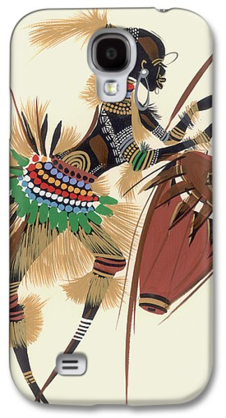 Full Skirt Galaxy S4 Cases - Her Rhythm And Blues, 2010 Oil On Paper Galaxy S4 Case by Oglafa Ebitari Perrin