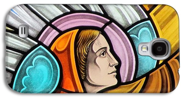 God Glass Art Galaxy S4 Cases - Heralding Angel Galaxy S4 Case by Gilroy Stained Glass
