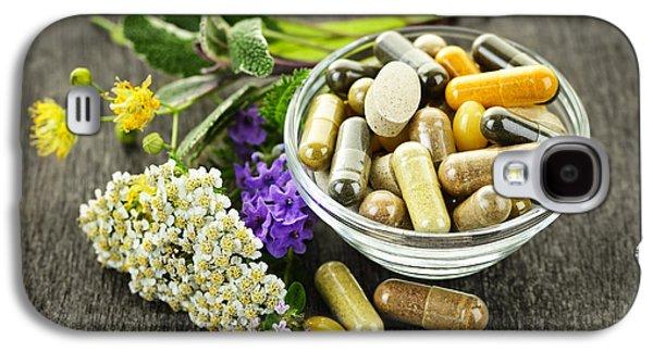 Capsule Galaxy S4 Cases - Herbal medicine and herbs Galaxy S4 Case by Elena Elisseeva
