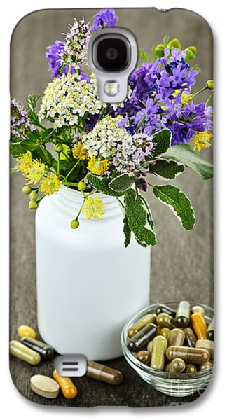 Capsule Galaxy S4 Cases - Herbal medicine and plants Galaxy S4 Case by Elena Elisseeva