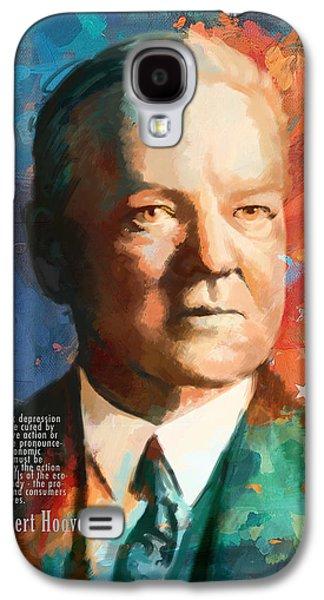 James Buchanan Galaxy S4 Cases - Herbert Hoover Galaxy S4 Case by Corporate Art Task Force