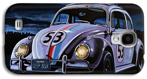 Character Portraits Galaxy S4 Cases - Herbie The Love Bug Galaxy S4 Case by Paul  Meijering