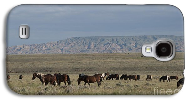 Strong America Galaxy S4 Cases - Herd of Wild Horses Galaxy S4 Case by Juli Scalzi