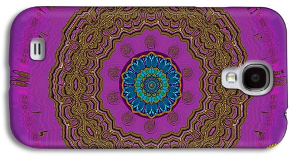 Contemplative Mixed Media Galaxy S4 Cases - Here Comes The Sun 2 Galaxy S4 Case by Pepita Selles