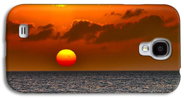 Sunset Abstract Galaxy S4 Cases - Here goes the Sun Galaxy S4 Case by Claudia Mottram