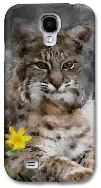 Bobcats Digital Galaxy S4 Cases - Here Kitty Kitty Galaxy S4 Case by Dennis Wickerink