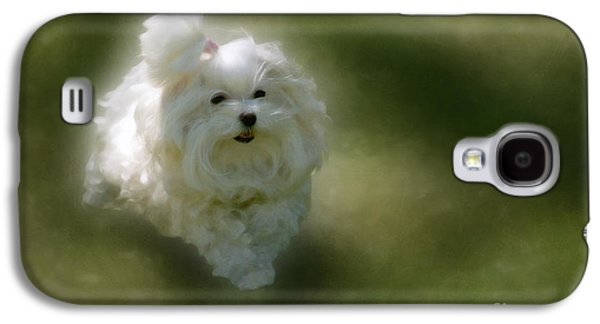 Dog Running. Galaxy S4 Cases - Here She Comes Galaxy S4 Case by Lois Bryan