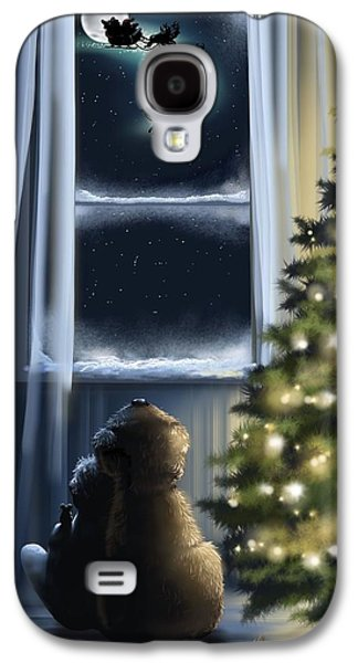 Santa Claus Paintings Galaxy S4 Cases - Here we are... Galaxy S4 Case by Veronica Minozzi