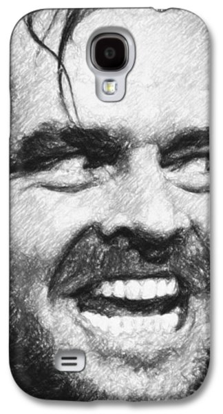 Blood Drawings Galaxy S4 Cases - Heres Johnny - The Shining  Galaxy S4 Case by Taylan Soyturk