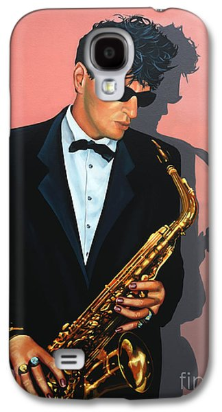 Rock N Roll Paintings Galaxy S4 Cases - Herman Brood Galaxy S4 Case by Paul  Meijering