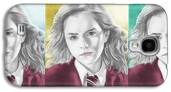 Hermione Granger Galaxy S4 Cases - Hermione Granger - 3up One Print Galaxy S4 Case by Alexander Gilbert