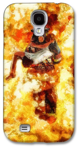 Saving Paintings Galaxy S4 Cases - Heroic Firefighter Galaxy S4 Case by Christopher Lane