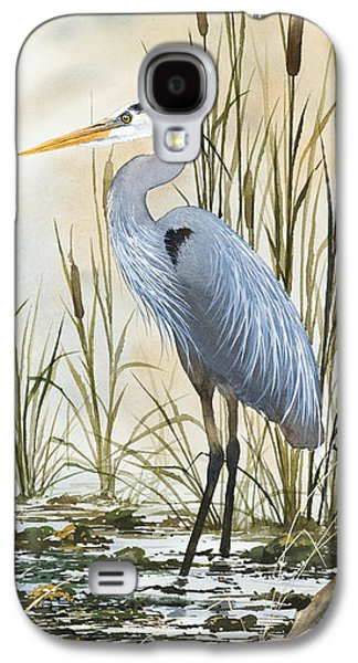 Edition Galaxy S4 Cases - Heron and Cattails Galaxy S4 Case by James Williamson