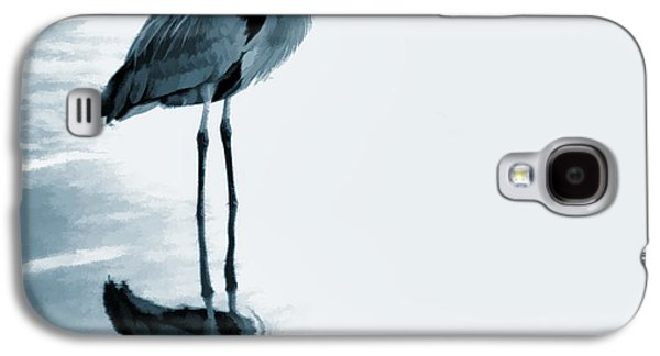 Great Birds Galaxy S4 Cases - Heron in the Shallows Galaxy S4 Case by Carol Leigh
