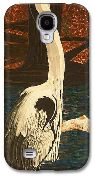 Smokey Mountains Paintings Galaxy S4 Cases - Heron in the Smokies Galaxy S4 Case by BJ Hilton Hitchcock