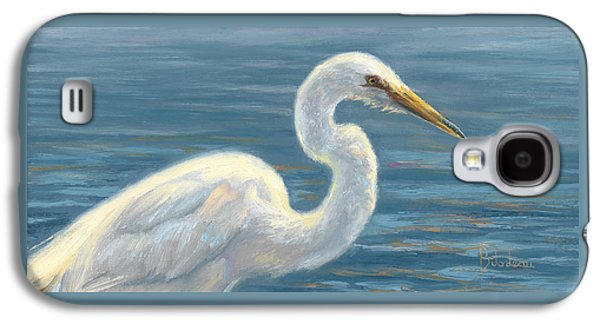 Heron Paintings Galaxy S4 Cases - Heron Light Galaxy S4 Case by Lucie Bilodeau