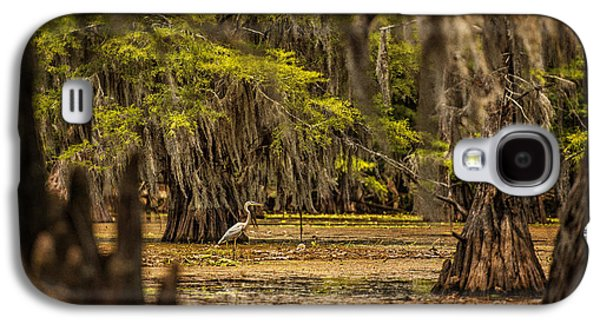 Tamyra Ayles Galaxy S4 Cases - Heron on Caddo Lake  Galaxy S4 Case by Tamyra Ayles