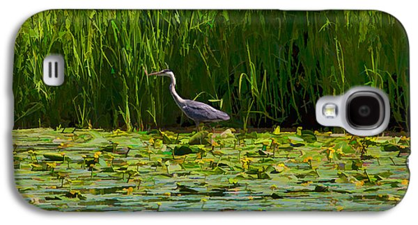 Paiting Galaxy S4 Cases - Heron play Galaxy S4 Case by Leif Sohlman