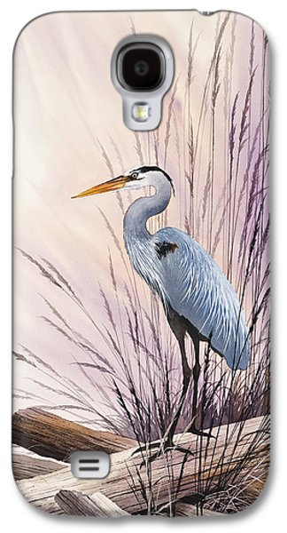Heron Paintings Galaxy S4 Cases - Herons Driftwood Home Galaxy S4 Case by James Williamson