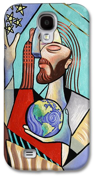 Jesus Digital Art Galaxy S4 Cases - Hes Got The Whole World In His Hand Galaxy S4 Case by Anthony Falbo
