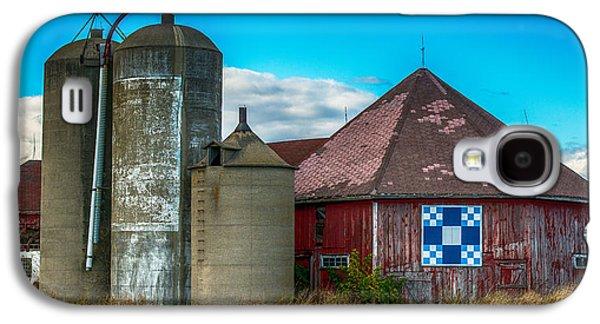 Barn Yard Galaxy S4 Cases - Hexagon Quilt Barn Galaxy S4 Case by Paul Freidlund