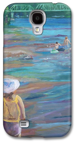 Stockton Paintings Galaxy S4 Cases - Hey Wait Up Galaxy S4 Case by Susan  Esbensen