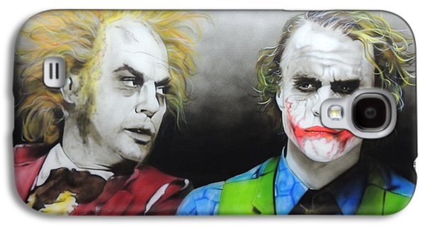 Health Ledger - ' Hey Why So Serious? ' Galaxy S4 Case by Christian Chapman Art