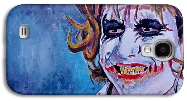 Joker Dark Knight Heath Ledger Movie Actor Galaxy S4 Cases - Hi Galaxy S4 Case by Jeremy Moore