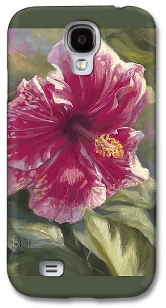 Hibiscus Galaxy S4 Cases - Hibiscus In Bloom Galaxy S4 Case by Lucie Bilodeau