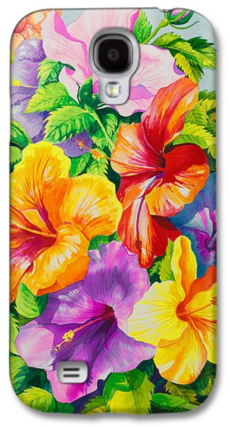 Hibiscus Galaxy S4 Cases - Hibiscus Rainbow Array Galaxy S4 Case by Janis Grau