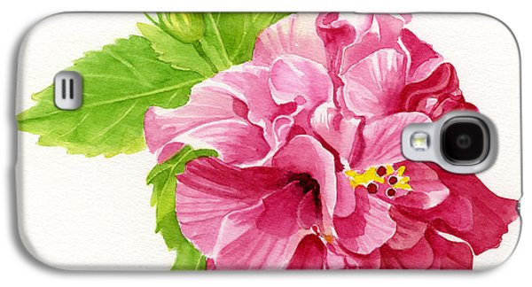 Hibiscus Galaxy S4 Cases - Hibiscus Rosa-Sinensis Galaxy S4 Case by Sharon Freeman