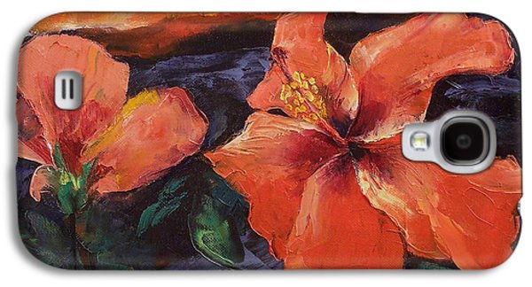 Hibiscus Galaxy S4 Cases - Hibiscus Volcano Galaxy S4 Case by Michael Creese