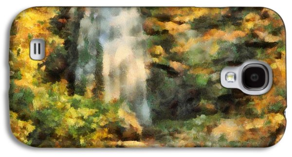 Painter Mixed Media Galaxy S4 Cases - Hidden Autumn Waterfall Galaxy S4 Case by Dan Sproul