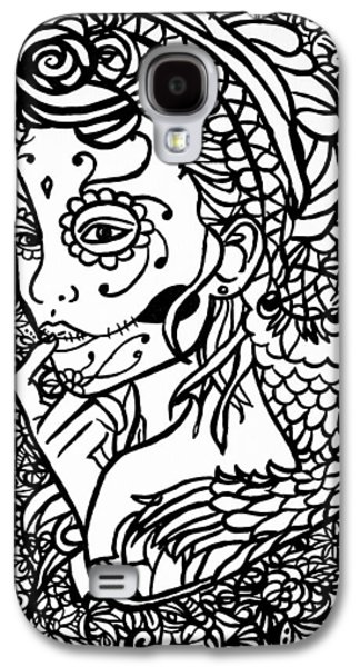 Lounge Drawings Galaxy S4 Cases - Hidden Lady Part 2 Galaxy S4 Case by Alex Hiemstra