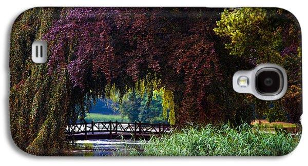 Garden Scene Galaxy S4 Cases - Hidden Shadow Bridge at the Pond. Park of the De Haar Castle Galaxy S4 Case by Jenny Rainbow