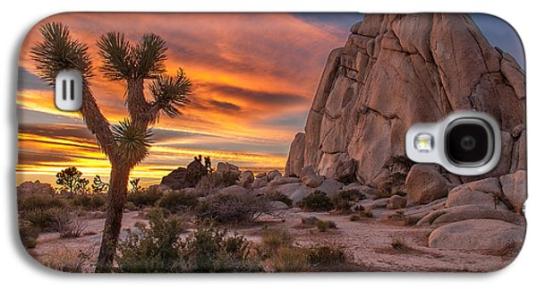 Colorful Cloud Formations Galaxy S4 Cases - Hidden Valley Rock - Joshua Tree Galaxy S4 Case by Peter Tellone