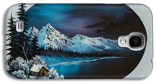 Bob Ross Paintings Galaxy S4 Cases - Jack Frost Moon  Galaxy S4 Case by C Steele