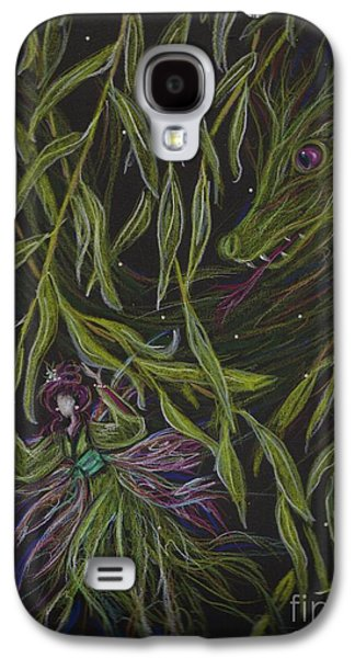 Weeping Drawings Galaxy S4 Cases - Hide and Willow Seeking Galaxy S4 Case by Dawn Fairies