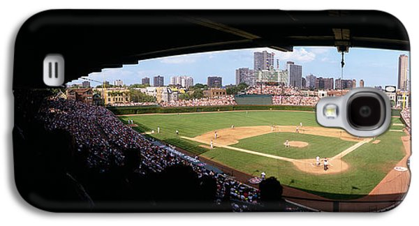 Chicago Galaxy S4 Cases - High Angle View Of A Baseball Stadium Galaxy S4 Case by Panoramic Images