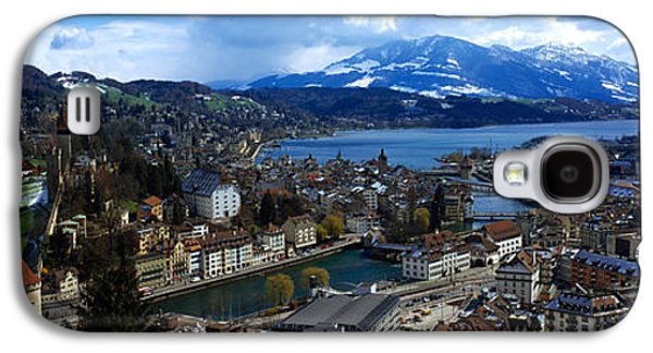Lucerne Galaxy S4 Cases - High Angle View Of A City, Chateau Galaxy S4 Case by Panoramic Images
