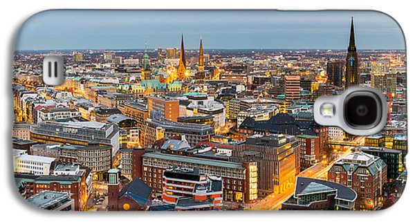 Hamburg Galaxy S4 Cases - High Angle View Of A City, Hamburg Galaxy S4 Case by Panoramic Images