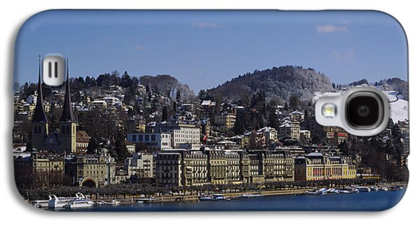 Lucerne Galaxy S4 Cases - High Angle View Of A City, Lucerne Galaxy S4 Case by Panoramic Images