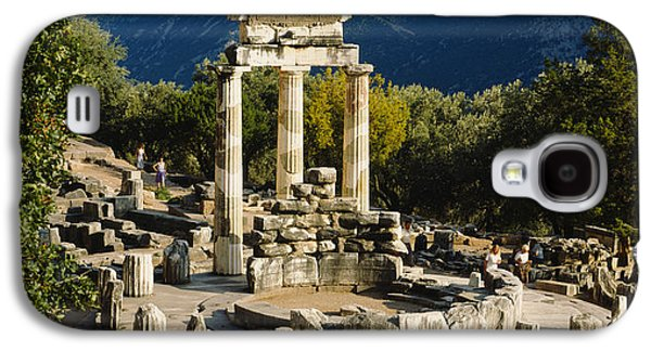 Ancient Civilization Galaxy S4 Cases - High Angle View Of A Monument, Tholos Galaxy S4 Case by Panoramic Images